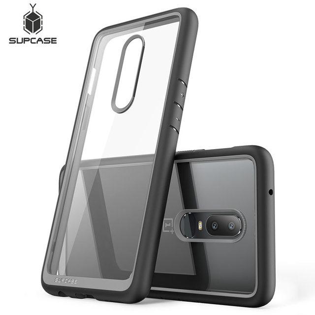 Telefonu kılıfı için OnePlus 6 SUPCASE UB tarzı serisi anti vurmak Premium hibrid koruyucu TPU tampon + PC kapak bir artı 6 kılıf için