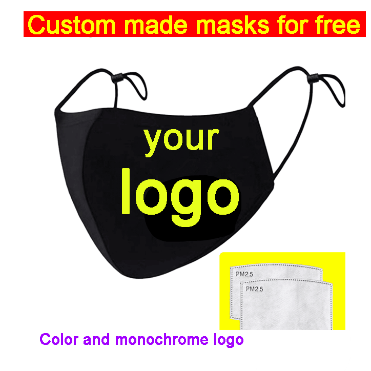 Customizable Masks with filter PM2.5 filters Mask cotton Face Masks with 2 Filters for Adult