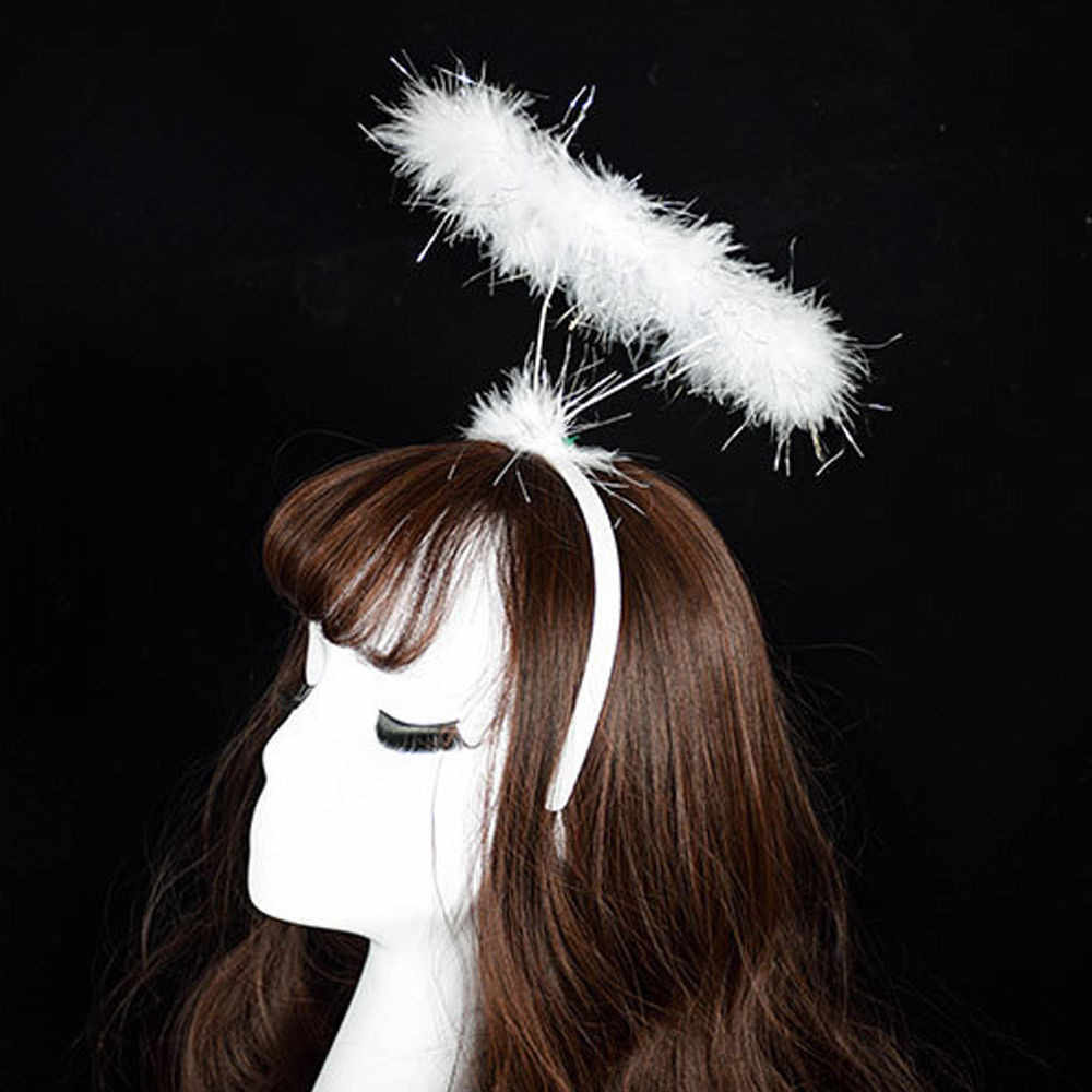 Ladied Pluizige Halo Angel Hoofdband Fee Fancy Dress Party Haarband Nieuwe Haarelastiekjes Ozdoby Doen Wlosow leuke Angel head bands bruiloft
