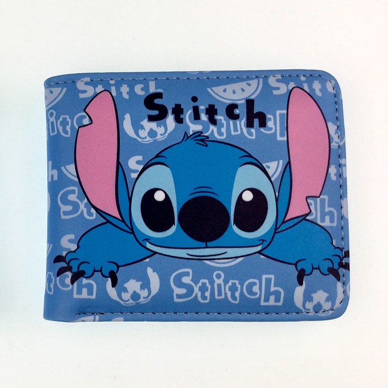 Novelty Cartoon Stitch Lilo Wallet Gift Kids Students Short Wallets Lovely Cat Pink Horse Leather Purse Card Holder For Boy Girl