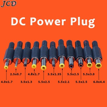 JCD 1pcs 2.5*0.7 3.5*1.3mm 4.0*1.7mm 4.8*1.7mm 5.5*2.1mm 5.5*3.0mm 5.5mm X 2.5mm Male Jack DC Power Plug Socket Adapter DC Jack image