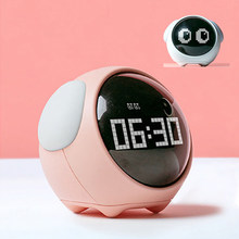 Cute Children's Alarm Clock Expression Alarm Clock With Night Light Sound Control Snooze Multifunctional Bedside Clock
