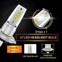 2pcs H7 Fog Car LED Light Headlight COB Canbus 55W Waterproof Truck Light System Driving Day Running Super Bright|Light Bar/Work Light|Automobiles & Motorcycles -