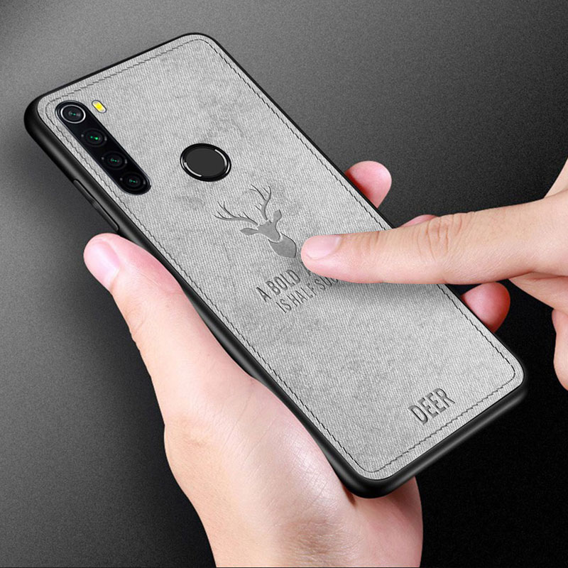 Fashion Elk Pattern canvas case for <font><b>XIAOMI</b></font> MI CC9 <font><b>Pro</b></font> <font><b>Note</b></font> 10 Silicon TPU Fabric Cloth Skin Cover for <font><b>Redmi</b></font> <font><b>Note</b></font> 8T <font><b>7</b></font> <font><b>Pro</b></font> Case image