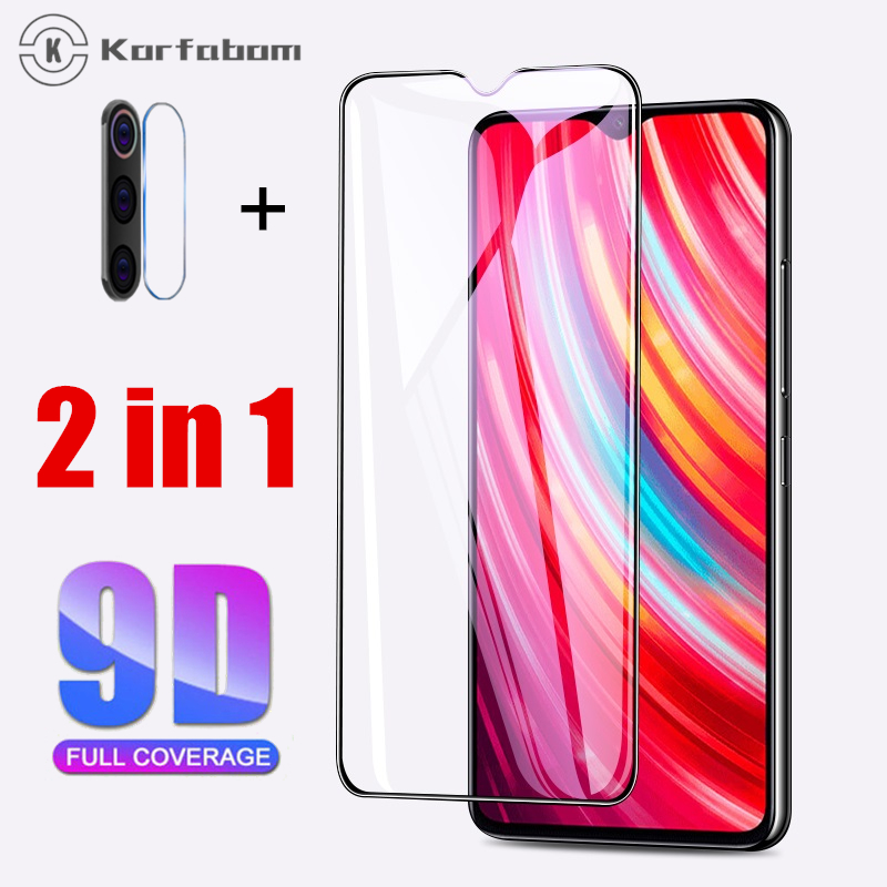 2 In 1 Tempered Glass For Xiaomi Redmi Note 8 Pro Full Cover For Redmi Note8pro Screen Protector Mi8 ProCamera Toughened Lens