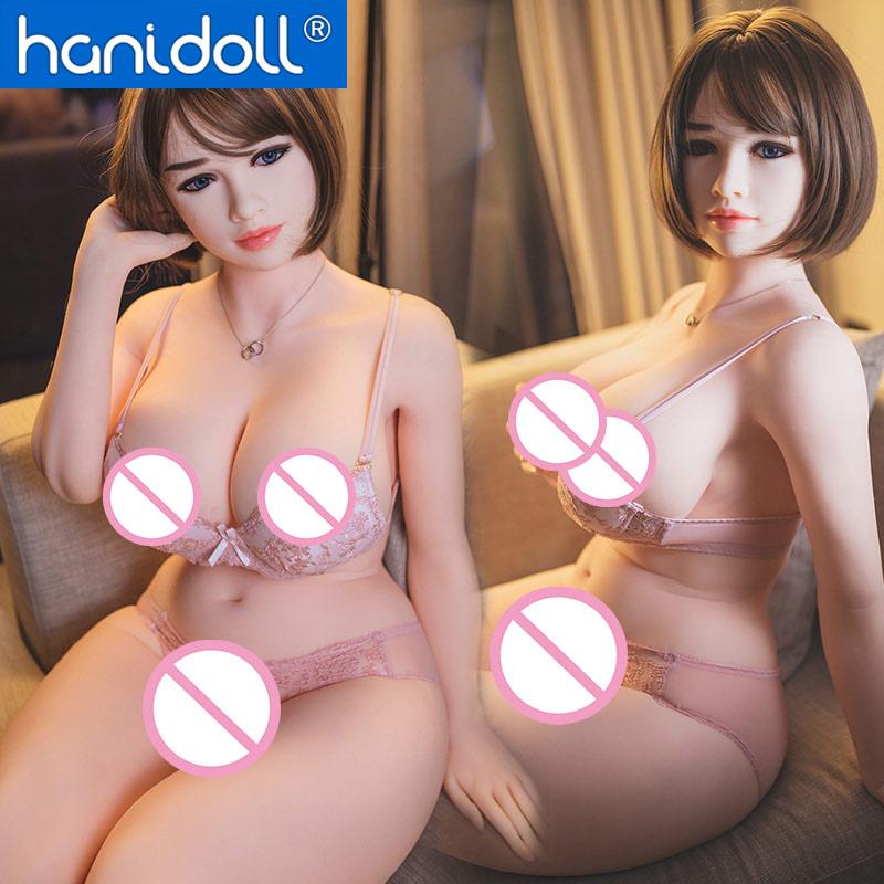 Hanidoll 162 centimetri bambole del sesso del silicone TPE big ass bambola di amore della vagina Realistica grande giocattoli del sesso del seno per l'uomo bianco della pelle