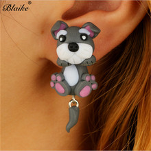 Blaike 925 Sterling Silver Filled Stud Earrings Cute Animal Dog Earrings For Wom