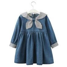 купить kids dresses for girls fall 2019 princess dress girl denim vestido roupa menina robe fille toddler costume frocks baby clothes дешево