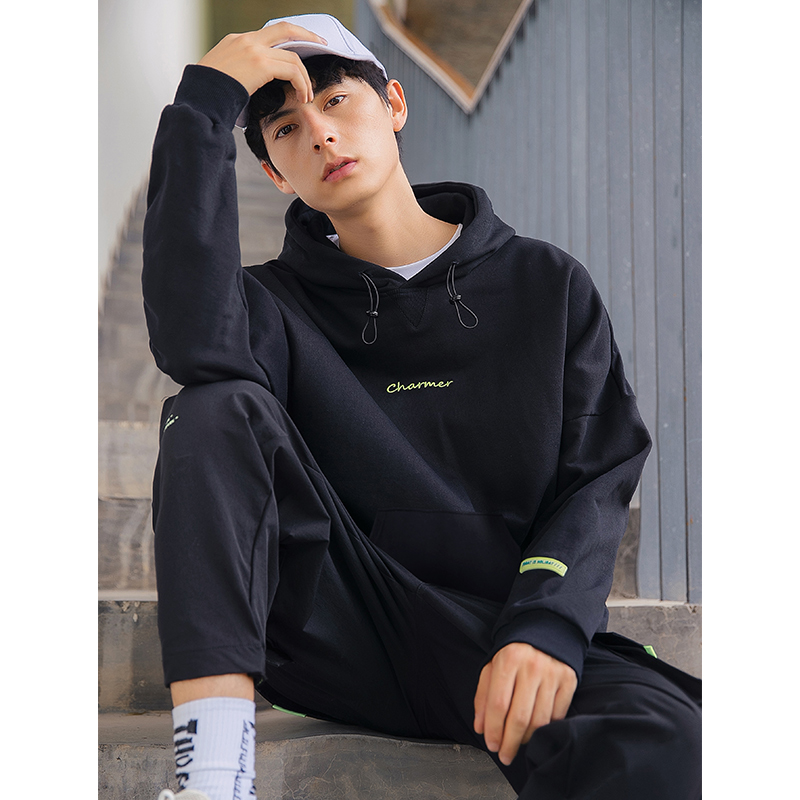 2020 Spring Men's Hoodies Sweatshirt Hooded Man Solid Color Pullover Male Casual Sweatshirts For Men Streetwear Black Hoodies