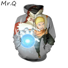 2019 Autumn and Winter Men Naruto Cosplay Hoodies Itachi Akatsuki Loose Blue Hoodie Naruto Headband Casual Loose Jacket(China)