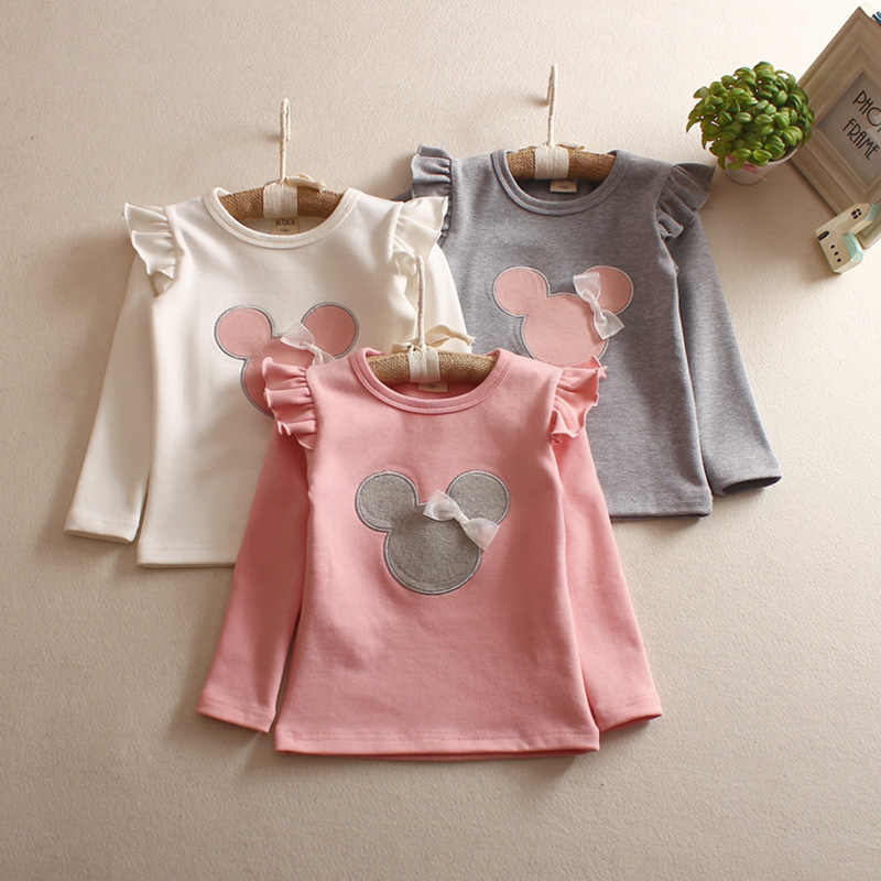 Girls'Long Sleeve Children's T-shirt Bottoming Shirt Children Spring and Summer Autumn Long Sleeves 2019 Cartoon T-shirt