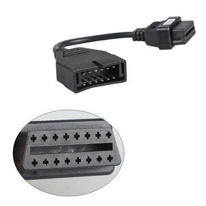 Автомобильный диагностический разъем OBDII OBD 2 коннектор адаптер для GM 12 Pin GM12 до 16 Pin кабель для GM транспортных средств Авто сканер адаптер