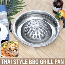 Barbecue-Pan-Basket Bbq-Grill-Pan Steamer Cookware Stovetop-Plate Cooking-Tools Thai-Style