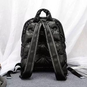 Image 4 - 2020秋と冬の新韓国ブームファッション宇宙の綿の空気大容量防水ビジネスバックパック