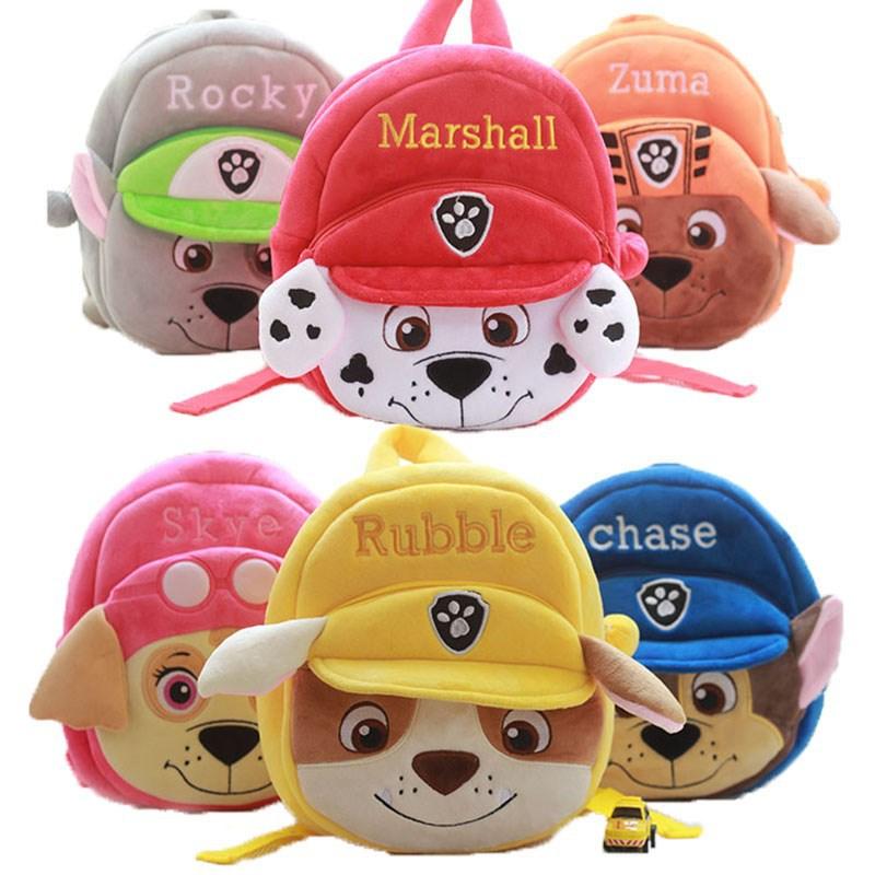 Paw Patrol Dog Cute Cartoon Mini Children Plush Toy Bag Kindergarten Boy Girl Baby Student Bag Children Gift Toys 7D08