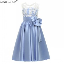 Real Photo Lace Top Bows Scoop Lovely Communion Dress Kids Flower Girls Dresses for Wedding