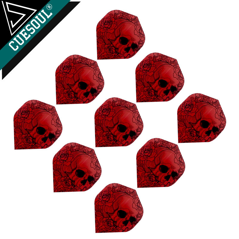 Hot 9pcs Professional Dart Flights Dart Tails Wings Red Skull Color With Very High Quality