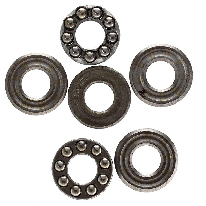 2 Pcs 10 X 24 X 9mm 51100 Single Direction Thrust Ball Bearings