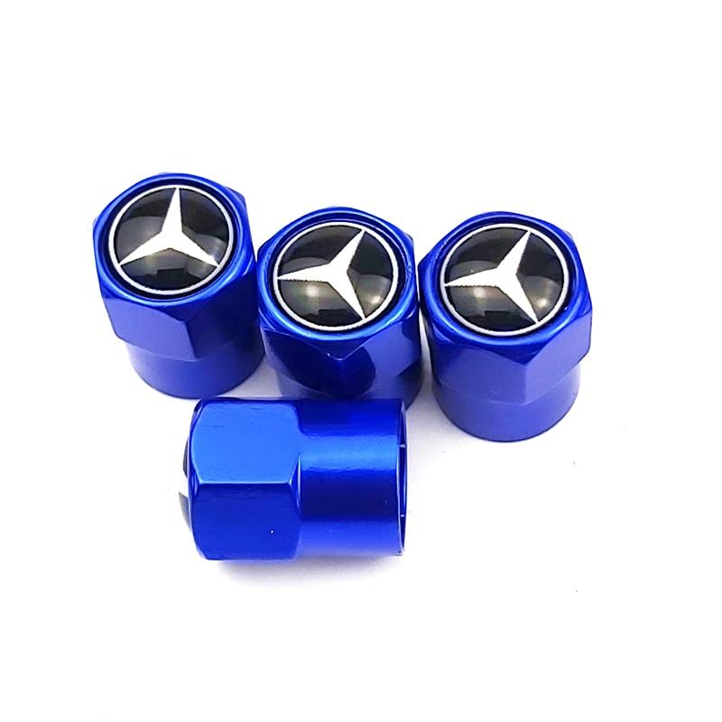Car Wheel Tire Valves Tyre Stem Air Caps Case For Mercedes benz A B R G Class GLK GLA w204 W251 W463 W176 W211 Car Accessories