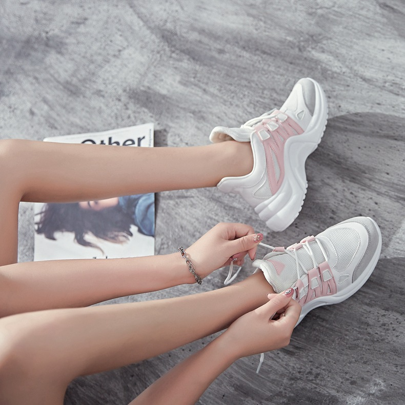Hadb87c7c1f014f1e91fc83ebbfbdd2d2W - Fujin Sneakers Women Breathable Mesh Casual Shoes Female Fashion Sneaker Lace Up High Leisure Women Vulcanize Shoe Platform