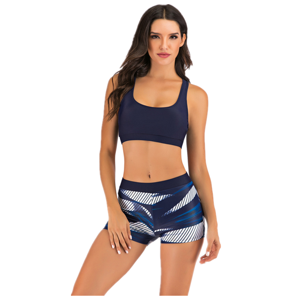 New Ladies Woman Special Crop Top /& Brief Suit Sport Bra Sleeveless Size 8-22
