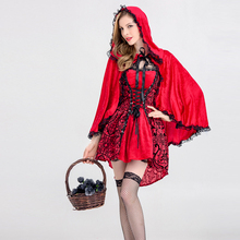 Adult Little Red Riding Hood Halloween Comic Cosplay Suit Costume  Christmas