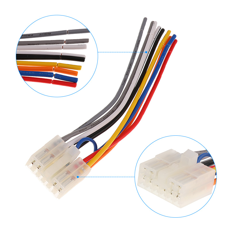 Image 5 - 1 Set 10 Pin+ 6 Pin  Car Stereo Radio Player ISO Wiring Harness Connector For Toyota Car Stereo 6.3 Inch EIA Color Code-in Cables, Adapters & Sockets from Automobiles & Motorcycles