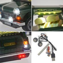 Yeabricks совместим с 1042 ретро мини-автомобилем светодиодный строительный конструктор светильник ing assembb светодиодный строительный блок Светодиодный светильник только набор