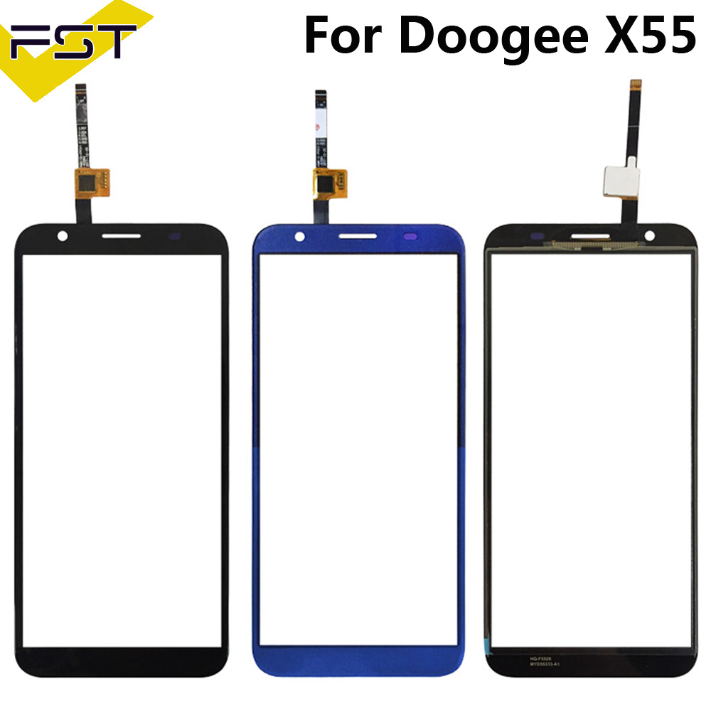 5.5''Black/Blue Touch Panel For Doogee X55 Touch Screen Digitizer Sensor Front Outer Glass Lens Without LCD+ Tools