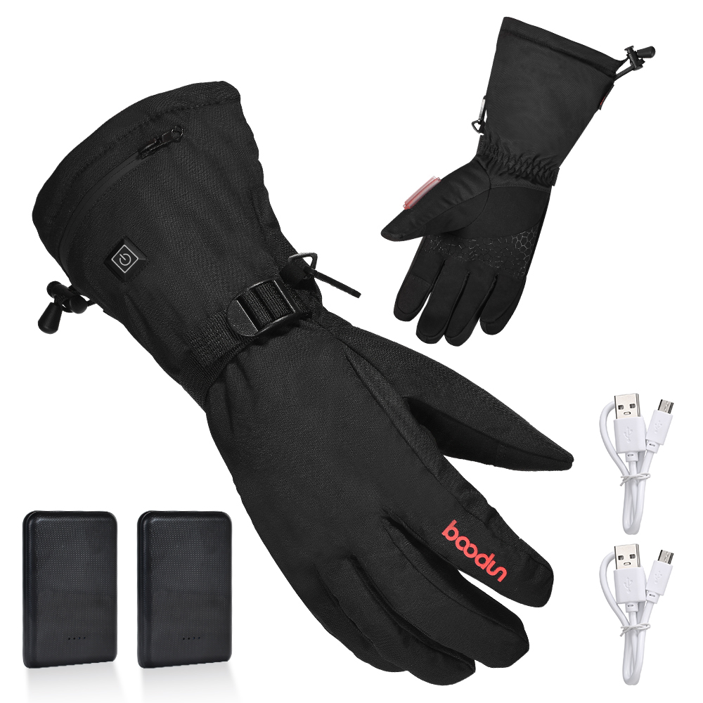 Climbing Skiing Electric Heated Gloves With Rechargeable Battery Thermal  Hand Warmer Winter Gloves With 3 Levels Temperature