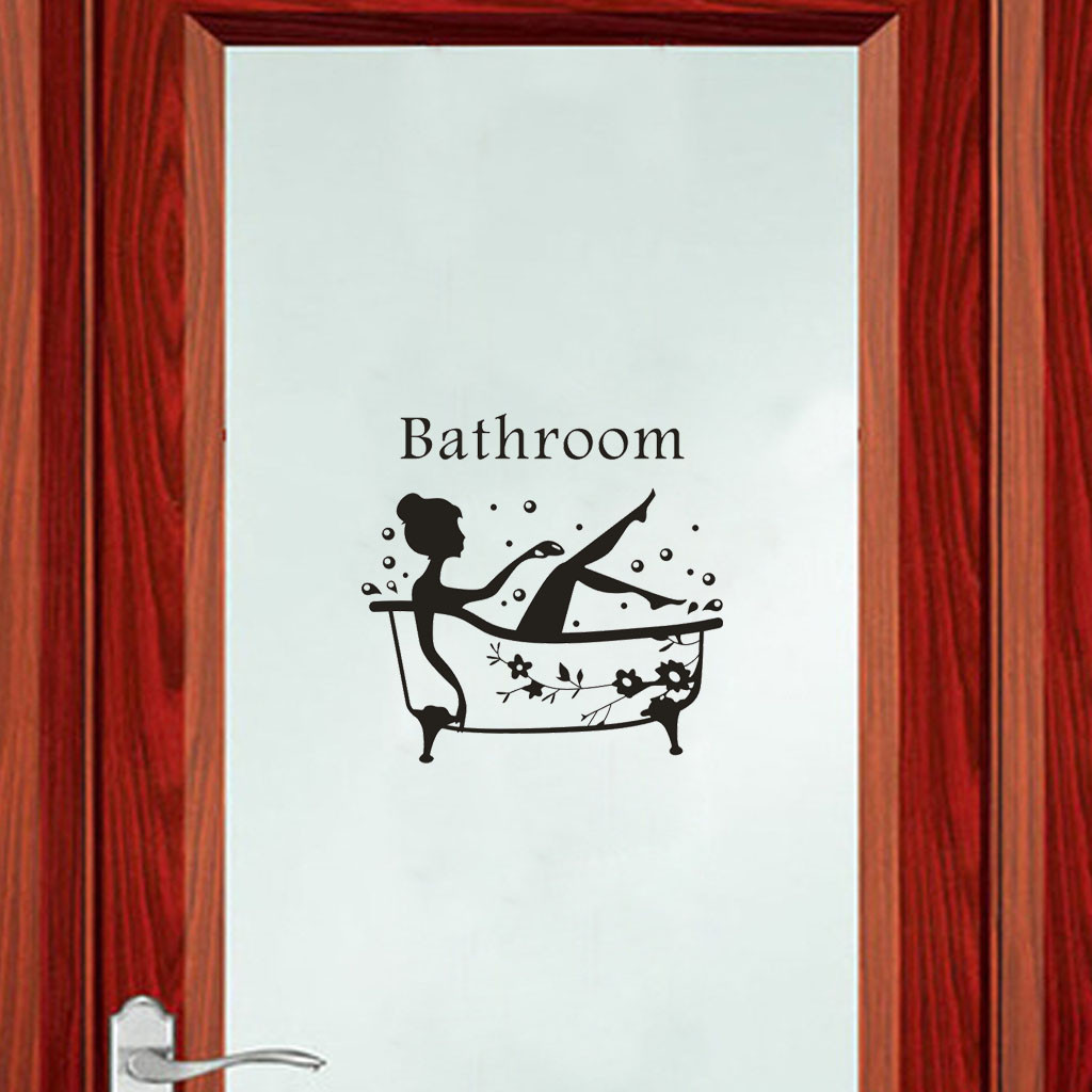 Decorative Wall Stickers Removable Self-adhesive Decals Bathroom Door Sticker Wall Window Decoration L1022