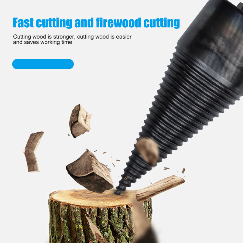 Wood Splitter Cone Drill Efficient Drill Bit Safe Wood Breaker Tool For Firewood Machine Fast Wood Splitting 32/38/42/45mm TB