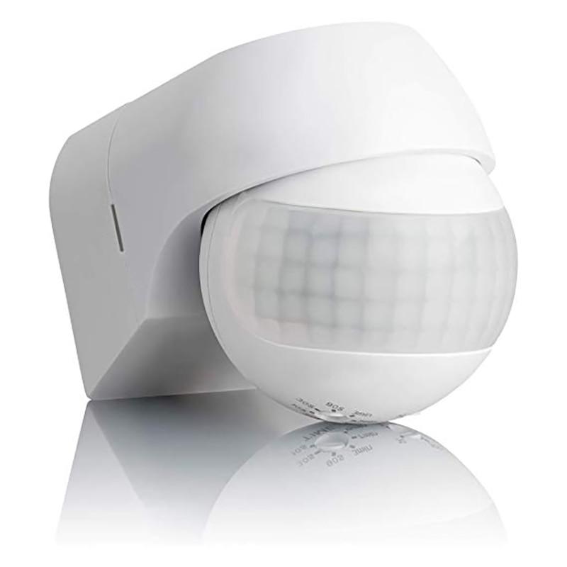 Sensor de movimiento infrarrojo automático, interruptor de luz con temporizador para exteriores, rotación de 110 grados, 230v ~ 180 v