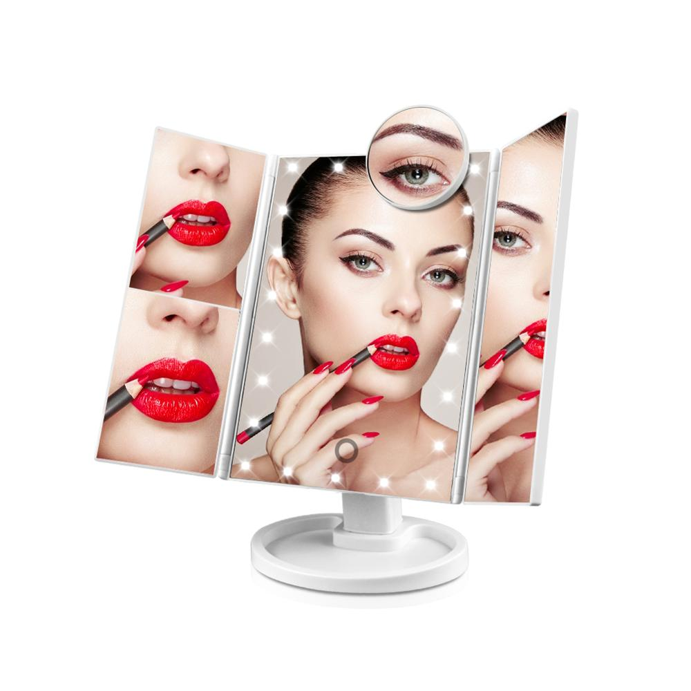 Girl Women bedroom Home Decorative Mirror Dimmer Makeup Dressing Table Mirror light Night Decor illuminated mirror vanity Lamp