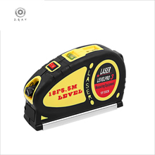 ZGAH 5.5M Multi-function Cross Line Small Carrying Convenient Laser Infrared Level Meter Telescopic Tape Measure