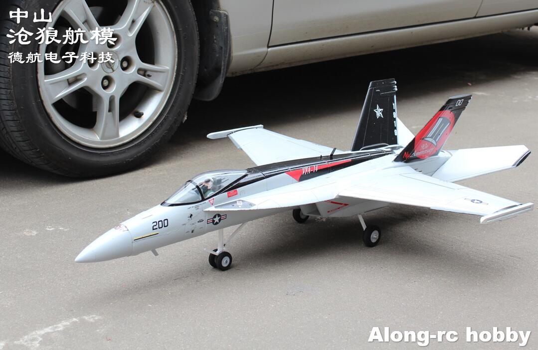 Окончательного Би 64 EDF JET F18 f-18 плоскости супер Hornet самолета приводимого в движение с помощью электропривода самолет/радиоуправляемая модел...