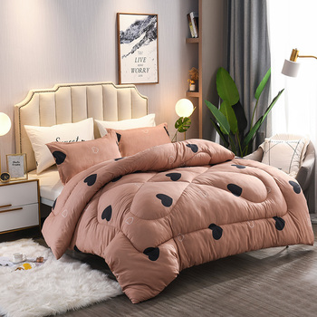 7 Colors Choose Home Bedding Blanket 4 Seasons Comforter Freshness Style Thicken Duvet 100% Washed Cotton High Grade Soft Quilts