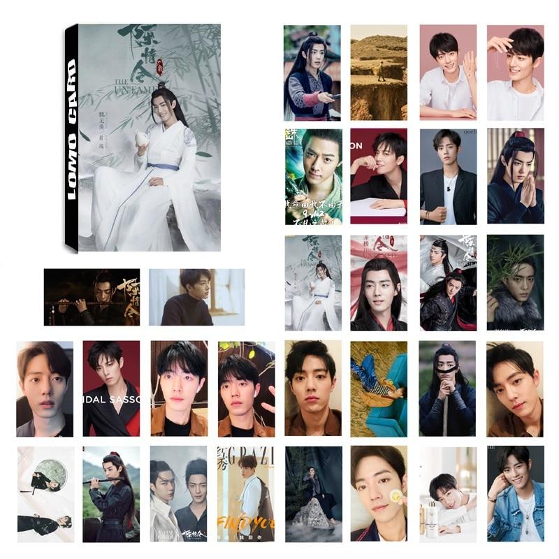 30 листов/набор Чэнь Цин Лин ломо карты мини Открытка Сяо Чжан Ван Yibo звезда DIY поздравительные открытки подарок