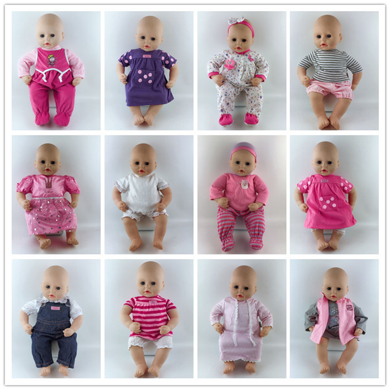 15style Jumpsuits Doll Clothes Wear Fit For 46cm/18nch Baby Doll, Children Best Birthday Gift(only Sell Clothes)