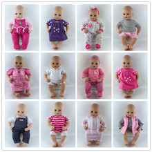 15style Jumpsuits Doll Clothes Wear fit for 46cm/18nch baby doll, Children best Birthday Gi