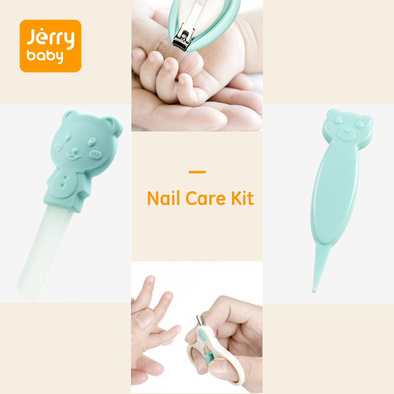 Jerrybaby Baby Nail Care Kits Nail Clippers Kits Safety Scissors Children Clean Nose Tweezers Set Baby Grooming Kit in Nail Care from Mother Kids