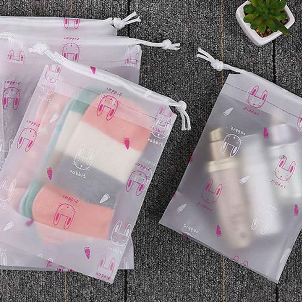 โปร่งใสกระต่ายเครื่องสำอางค์กระเป๋าแต่งหน้าผู้หญิงซิป Make Up Organizer เก็บกระเป๋าชุดล้าง Bath กล่อง