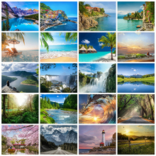 HUACAN Painting By Numbers Sea Scenery Drawing On Canvas HandPainted Art Gift DIY Picture Kits Home Decoration