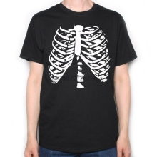 HALLOWEEN T SHIRT - RIB CAGE COSTUME HORROR e