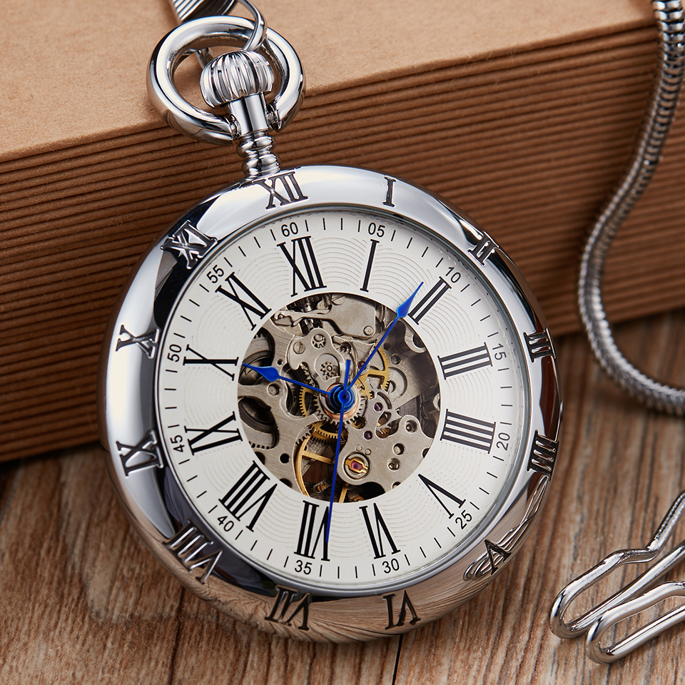 mecânico masculino feminino luxo cobre relógios esqueleto