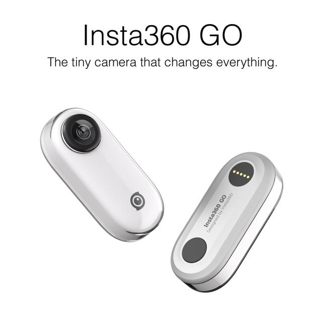 Insta360 GO new action camera AI auto editing hands free smallest stabilized camera 1080P Video Sports Action Camera