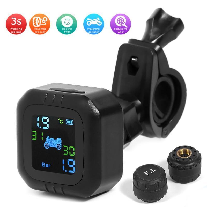Pressure-Meter-Gauge Moto W/external-Sensor Wireless-Tire Tyre Lcd-Display Real-Time
