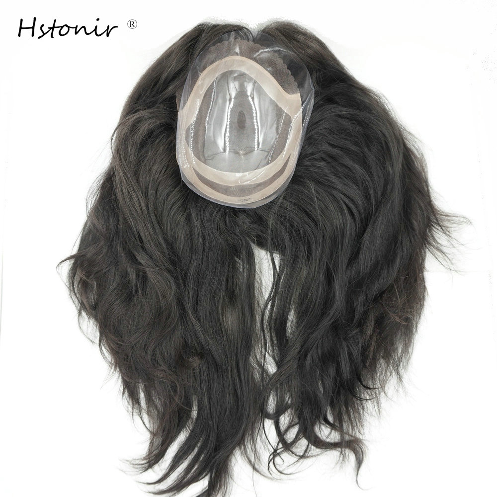 Hstonir Human Women Hair Top Piece Handtied Magic Closure Toupee Secret Crown Remy Hair Hairpiece TP12