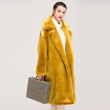 Зимнее женское пальто зимнее длинное пальто из искусственного меха кролика Женское пальто из искусственного меха Тедди и Куртка женская утепленная теплая меховая верхняя одежда