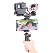 Ulanzi PT 8 PT 9 Gopro Smartphone Vlog płyta dla Sony A6400 A6300 zimny uchwyt na buty przedłużyć mikrofon LED Adapter światła